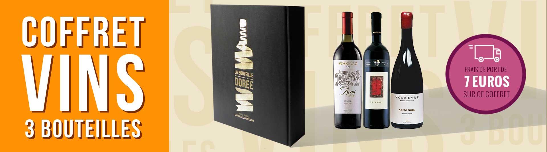Coffret vin Caucase 3 bouteilles