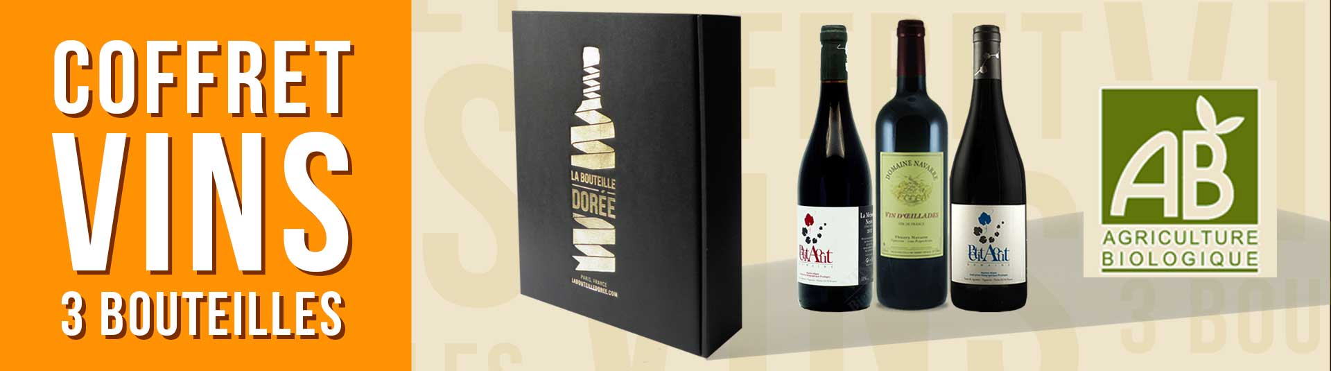 Coffret vin rouge BIO cépages rares 3 bouteilles