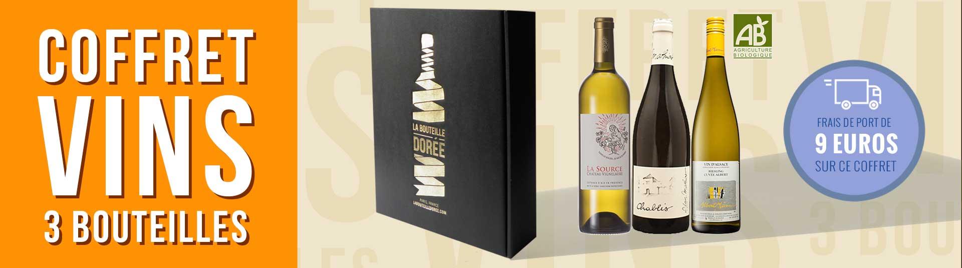 Coffret vin blanc Agriculture Biologique 3 bouteilles