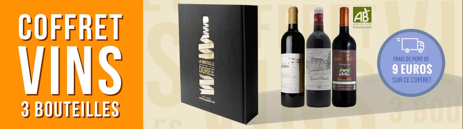 coffret vin Bordeaux Agriculture Biologique 3 bouteilles
