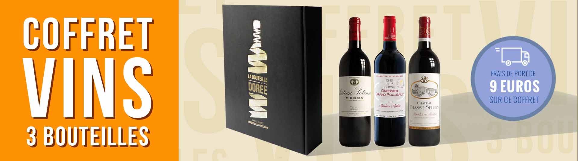 coffret vin Bordeaux Crus Bourgeois 3 bouteilles