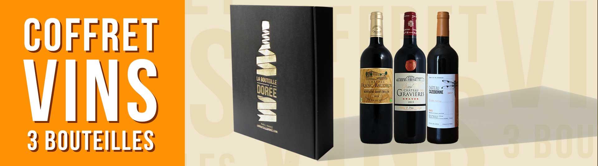 Coffret vin Bordeaux Rouge 3 bouteilles
