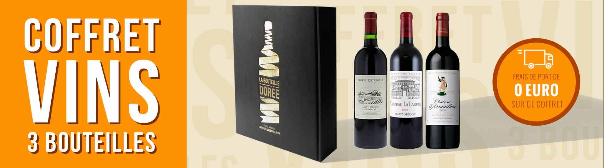 coffret vin 3 bouteilles Bordeaux grands crus classés 2005, 2009 et 2015