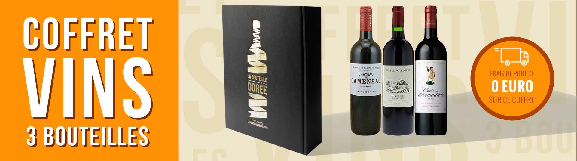 coffret vin 3 bouteilles Bordeaux grands crus classés 2010