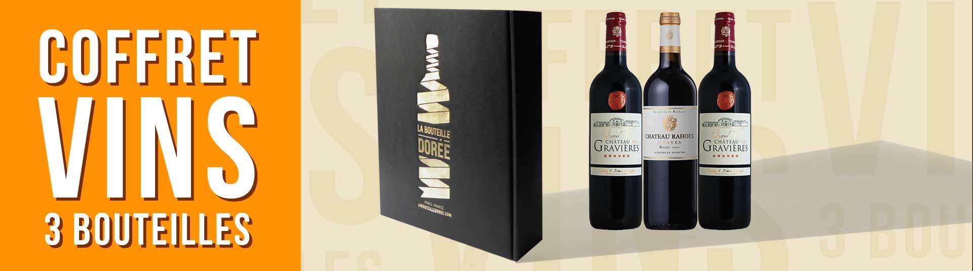 Coffret vin Bordeaux Graves Découverte 3 bouteilles