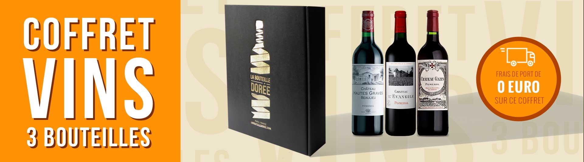 Coffret vin rouge Bordeaux Pomerol 3 bouteilles