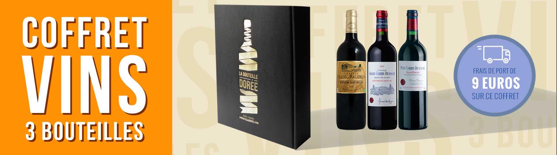 Coffret vin rouge Bordeaux Saint-Emilion 3 bouteilles