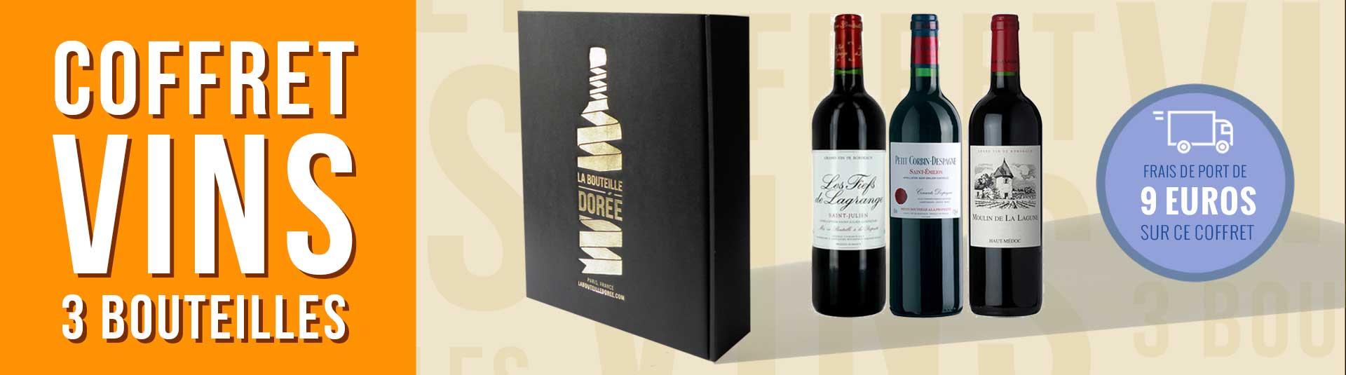 coffret vin Bordeaux seconds vins 3 bouteilles