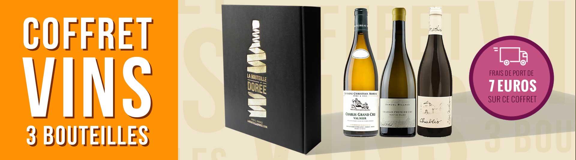 Coffret vin blanc Chablis Passion 3 bouteilles