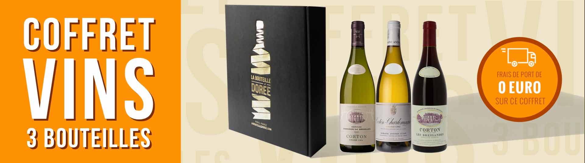 Coffret vin Prestige 3 bouteilles Bourgogne Corton