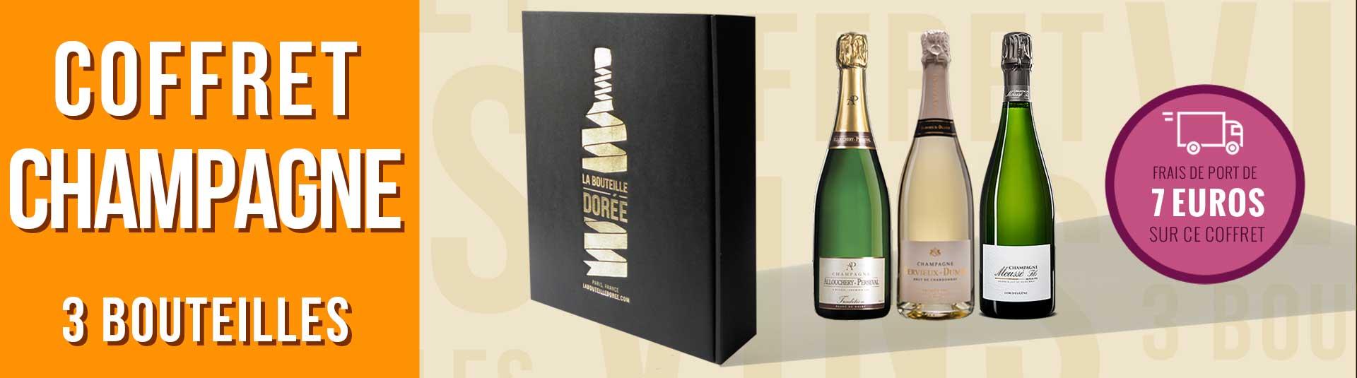 Coffret Champagne Cépages champenois 3 bouteilles