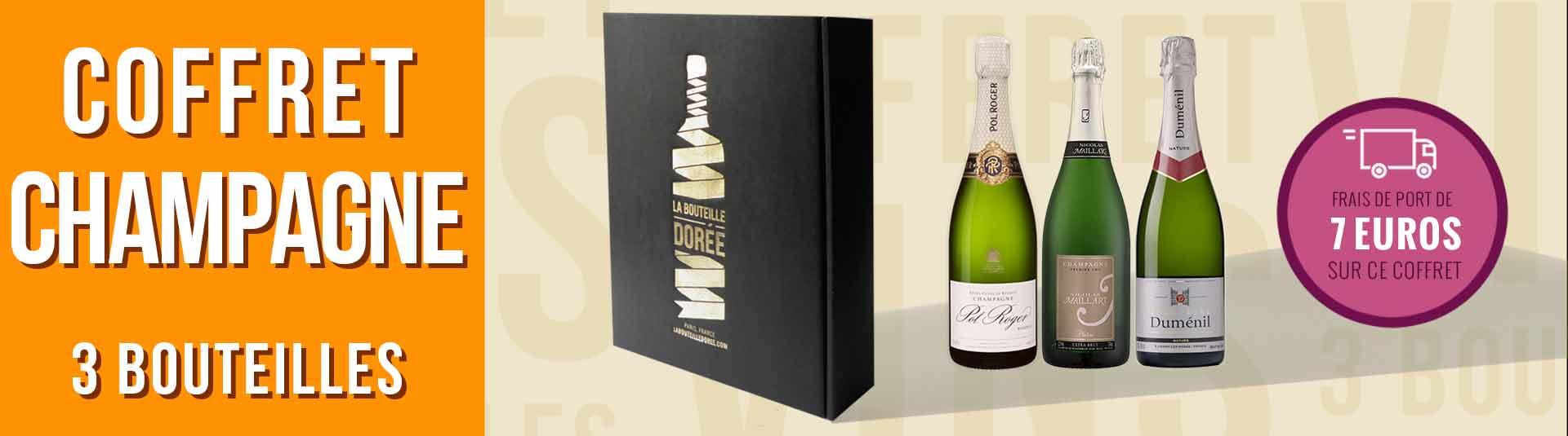 Coffret Champagne Nature Extra-Brut et Brut 3 bouteilles