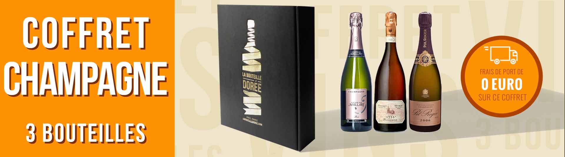 Coffret Champagne Rosé Prestige 3 bouteilles