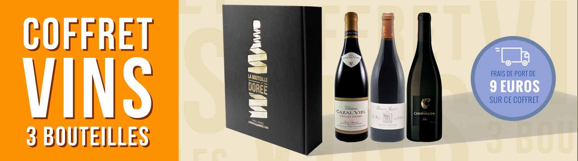 Coffret vin rouge Languedoc 3 bouteilles