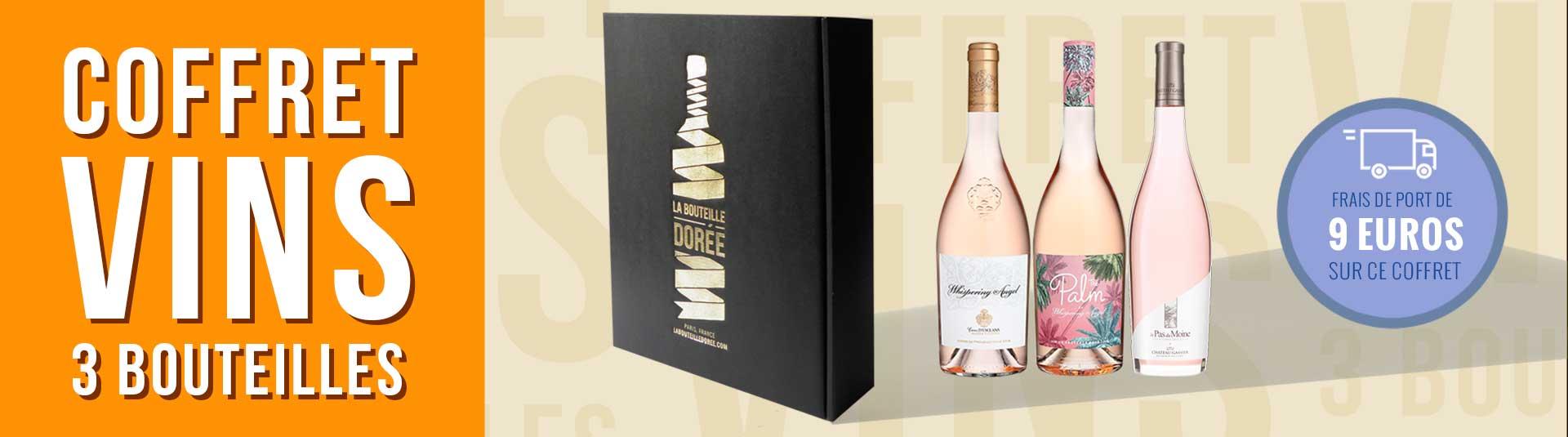 Coffret 3 bouteilles vin rosé Côtes de Provence