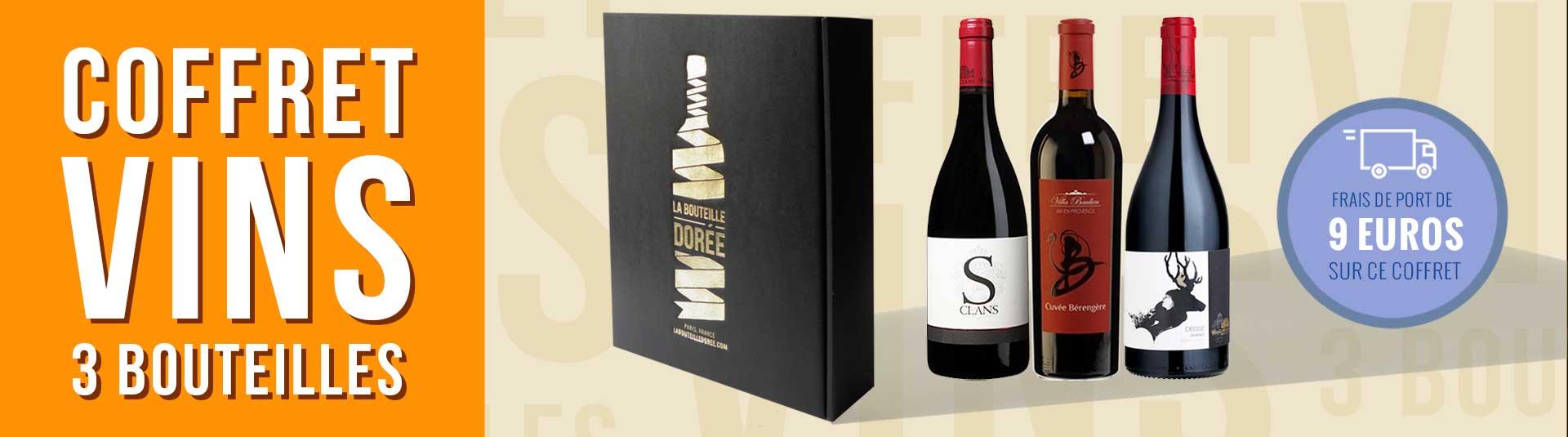 Coffret vin 3 bouteilles Côtes-de-Provence Rouge