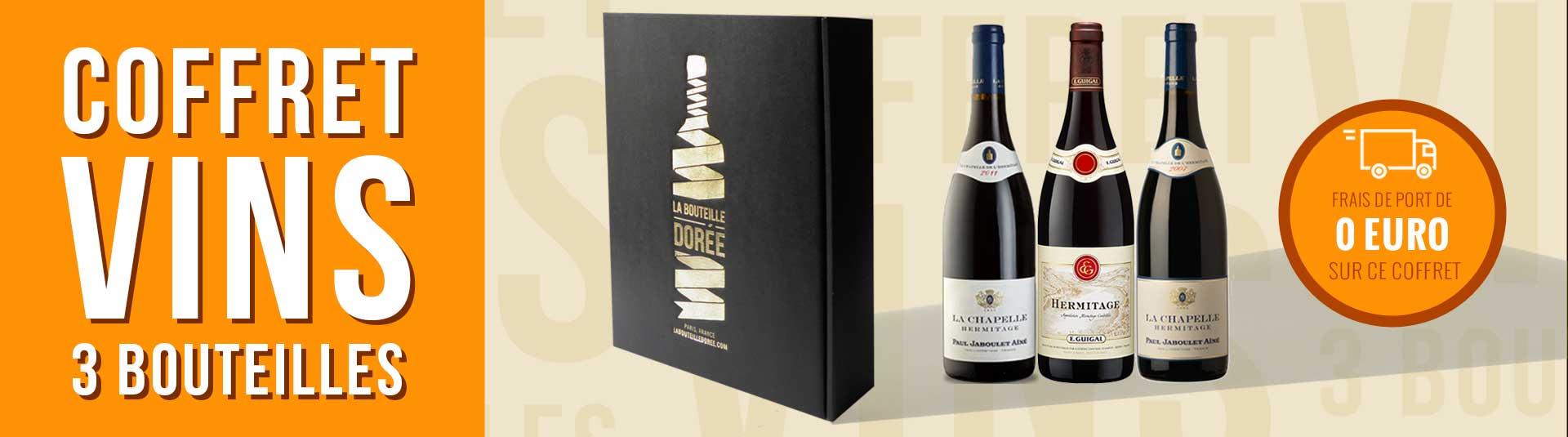 Coffret vin Prestige 3 bouteilles Hermitage Rouge