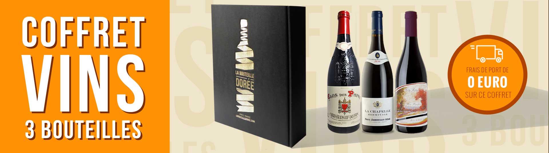 coffret vin rouge Passion Rhône 3 bouteilles