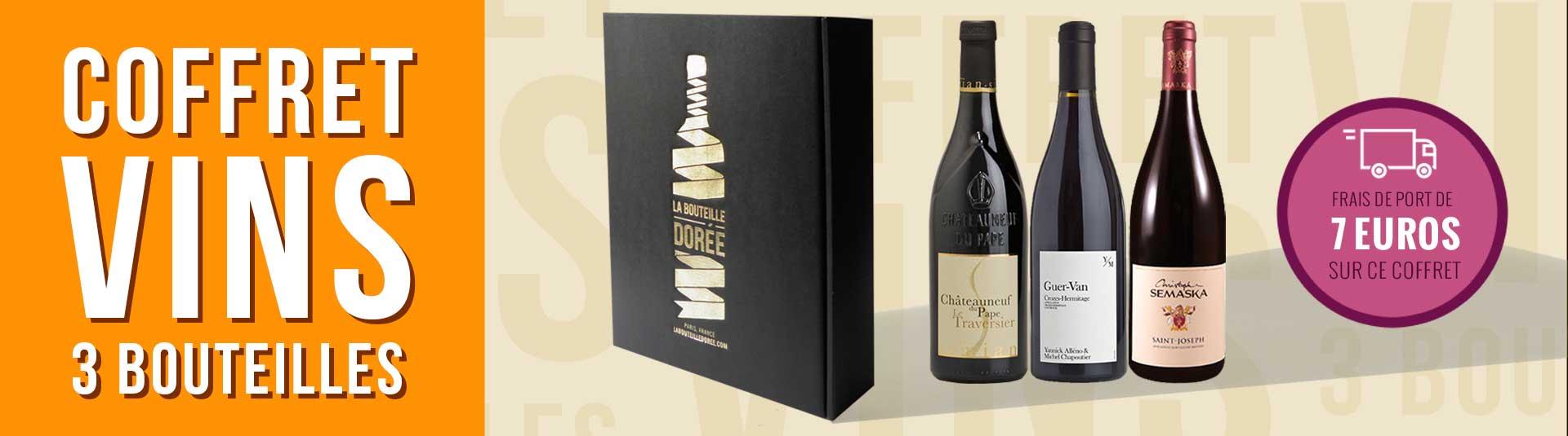 coffret vin rouge Rhône Découverte 3 bouteilles cépages Syrah et Grenache