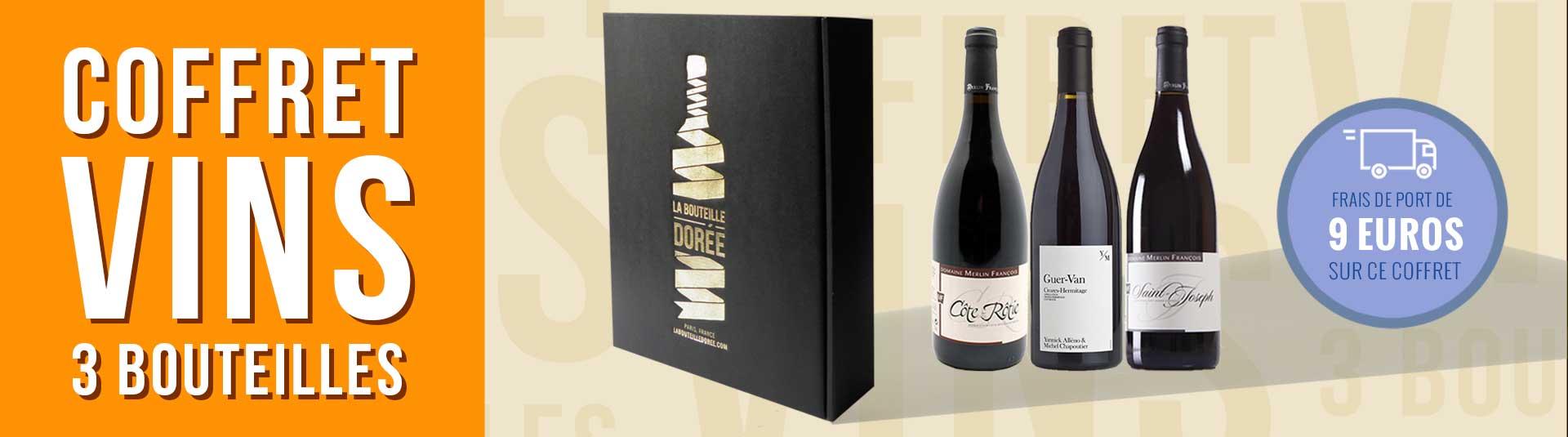 coffret vin Rhône 3 bouteilles cépage Syrah