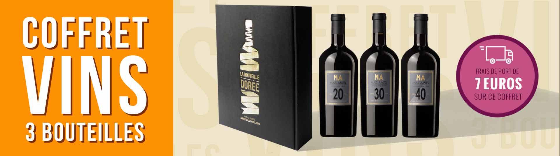 coffret vin Maury 20, 30 et 40 ans d'âge 3 bouteilles