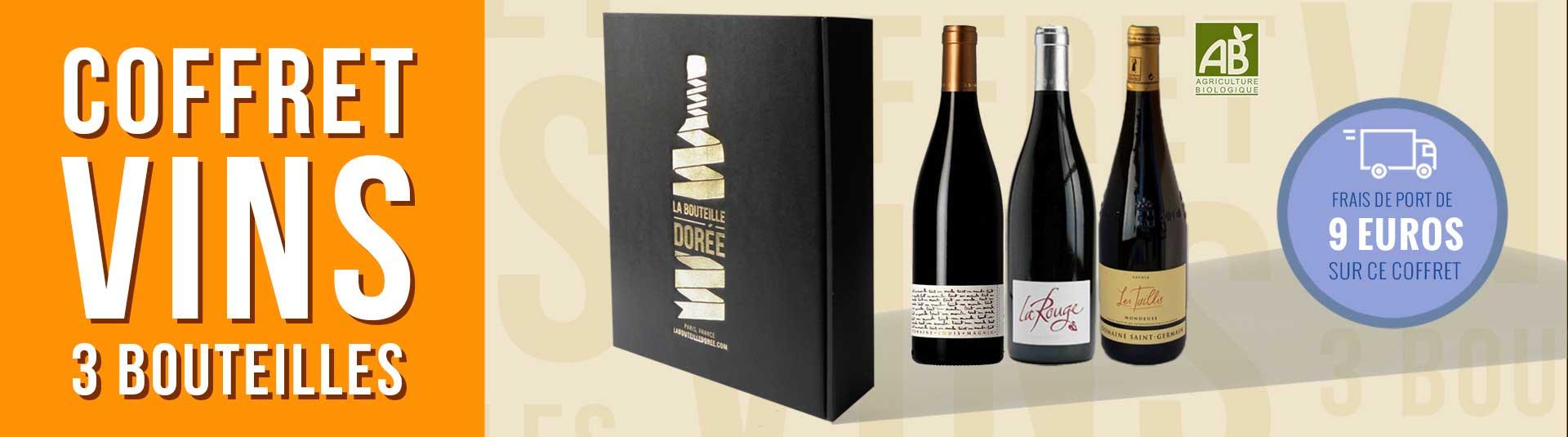 Coffret 3 bouteilles vin BIO Savoie Mondeuse