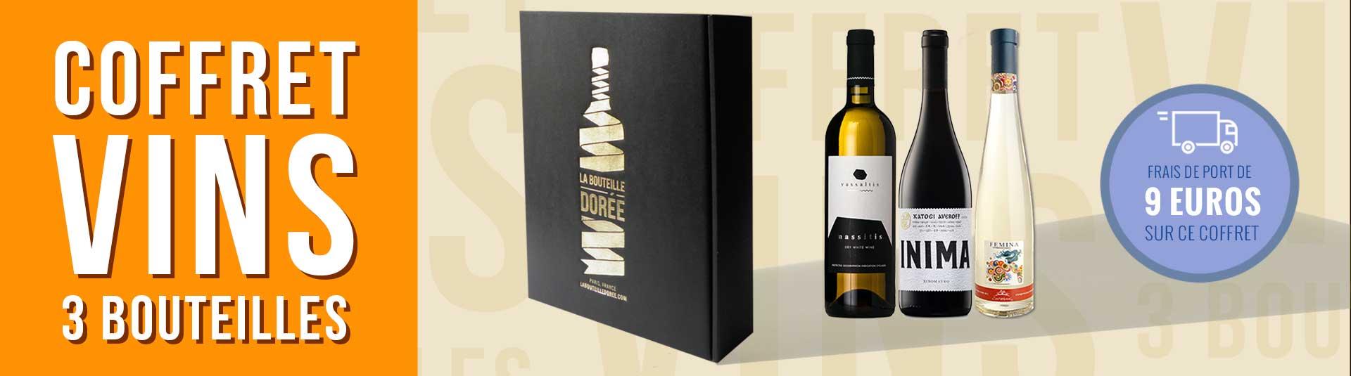Coffret vin Grèce 3 bouteilles