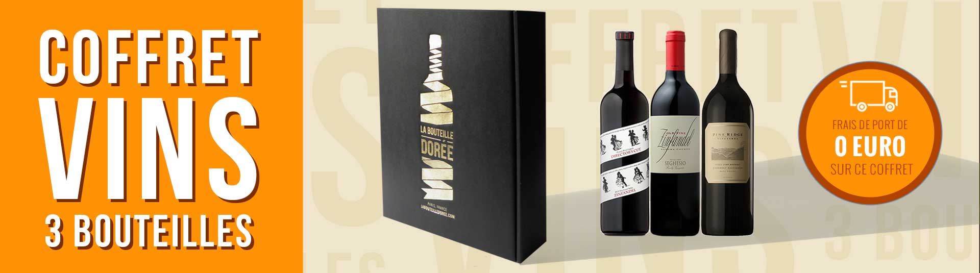 Coffret vin USA Prestige 3 bouteilles