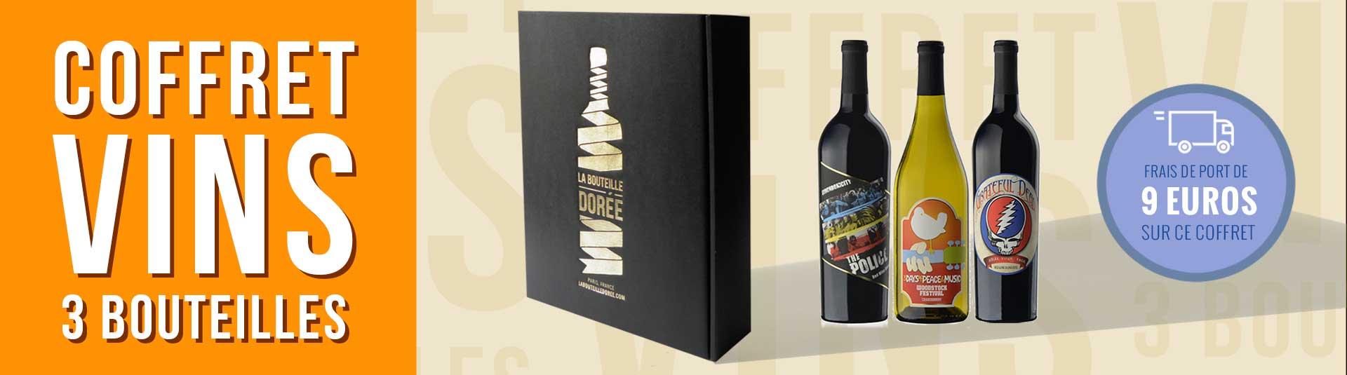 Coffret vin Rock USA 3 bouteilles
