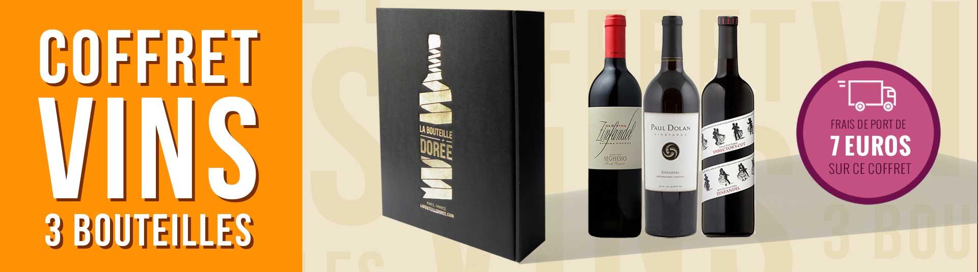 Coffret vin USA Zinfandel 3 bouteilles