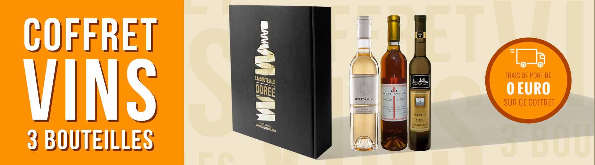 Coffret 3 bouteilles grands vins liquoreux