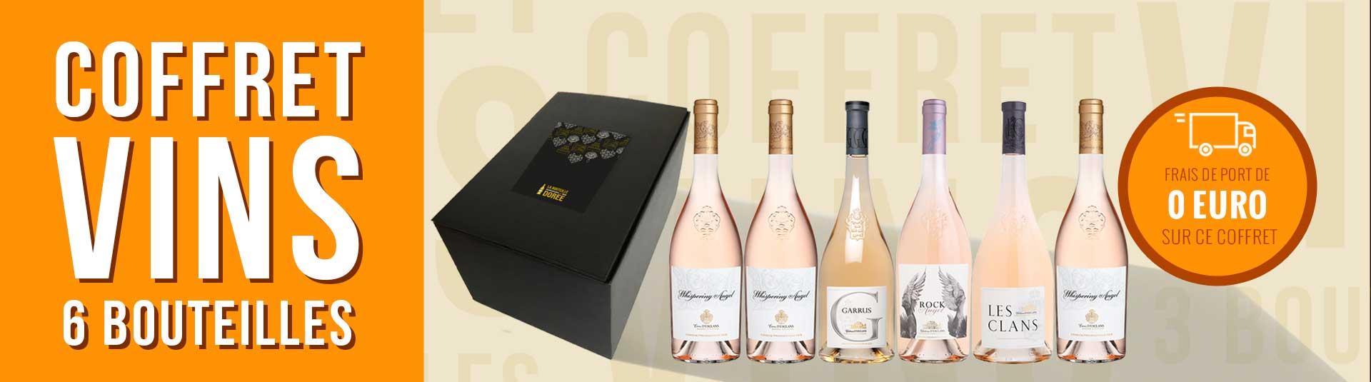 Coffret vin rosé Provence Château d'Esclans 6 bouteilles