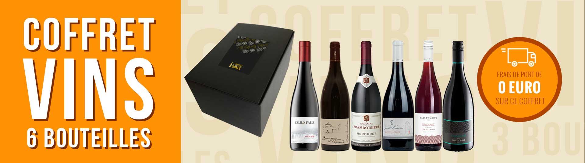 Coffret vin Pinot Noir 6 bouteilles