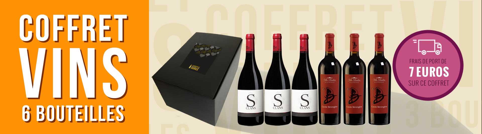 Coffret vin rouge Provence 6 bouteilles