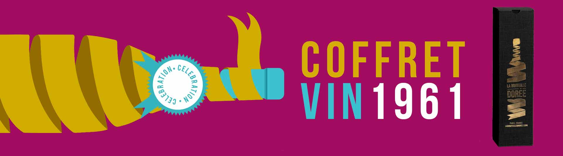 Coffret vin Anniversaire 60 ans 1 bouteille