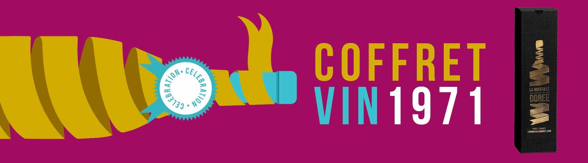 Coffret vin Anniversaire 50 ans 1 bouteille