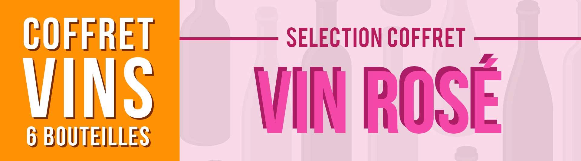 Coffret vin rosé Provence 6 bouteilles