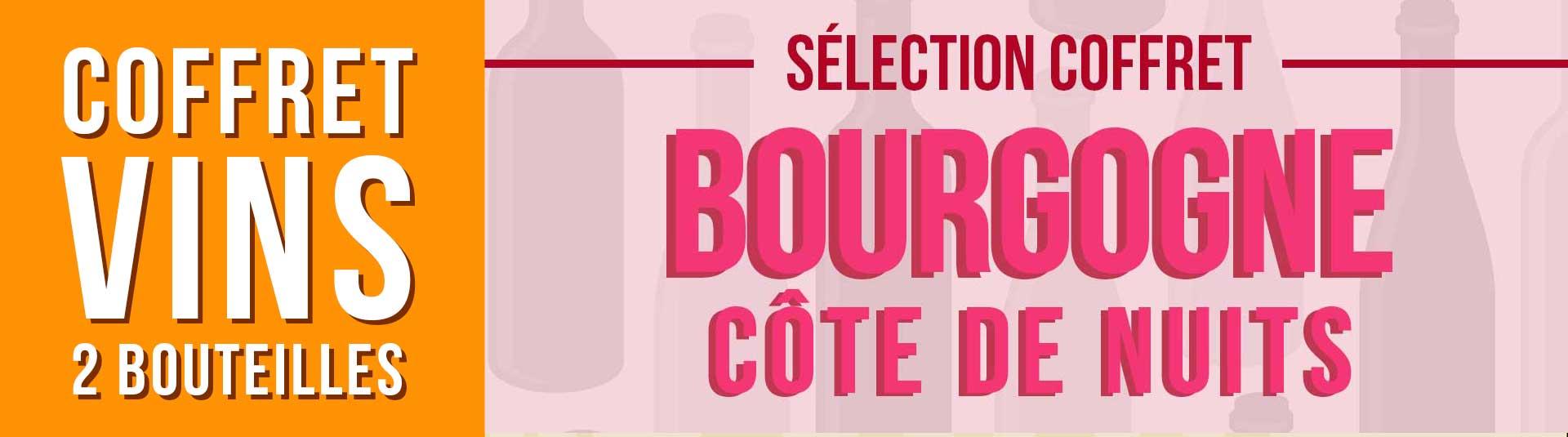 Coffret vin Bourgogne Côte de Nuits Sélection 2 bouteilles