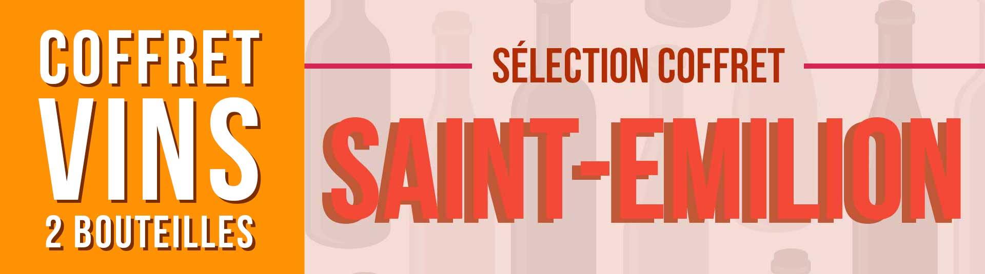 Coffret vin Saint-Emilion Sélection 2 bouteilles