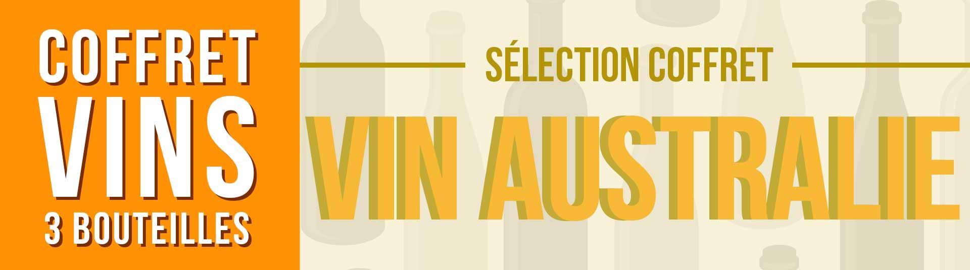 Coffret vin Australie Sélection 3 bouteilles