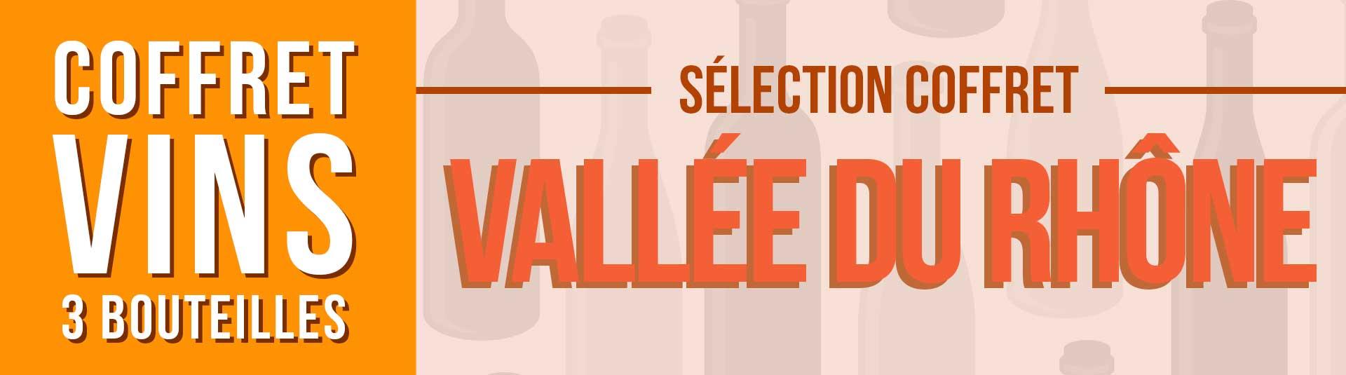Coffret vin rouge Rhône Sélection 3 bouteilles
