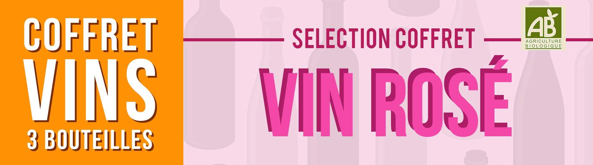 Coffret vin rosé de Provence BIO Sélection 3 bouteilles