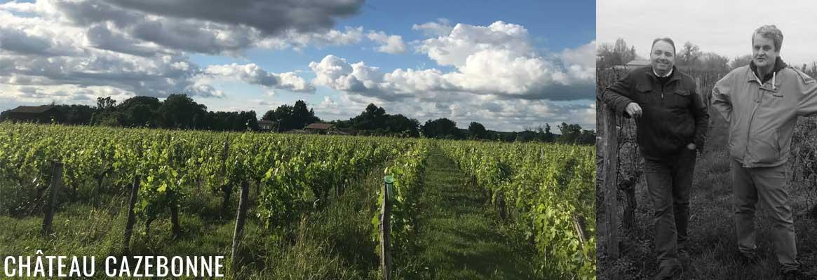 Château Cazebonne, vins blancs et rouges de Graves