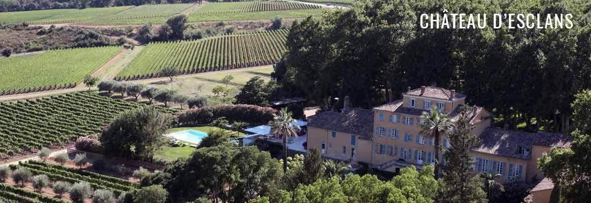 Vins du Château d'Esclans en Côtes de Provence