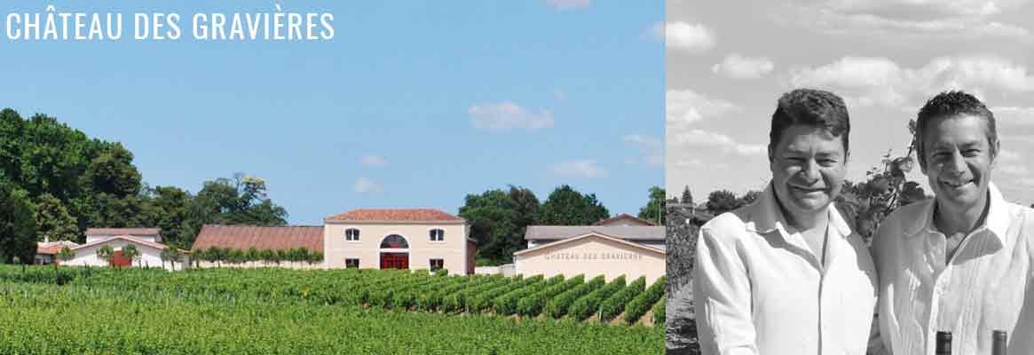 Château des Gravières, vins blancs et rouges de Graves