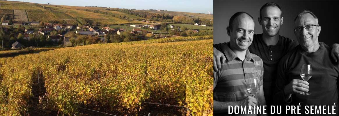 Le Domaine du Pre Semelé, grands vins rouges et blancs de Sancerre