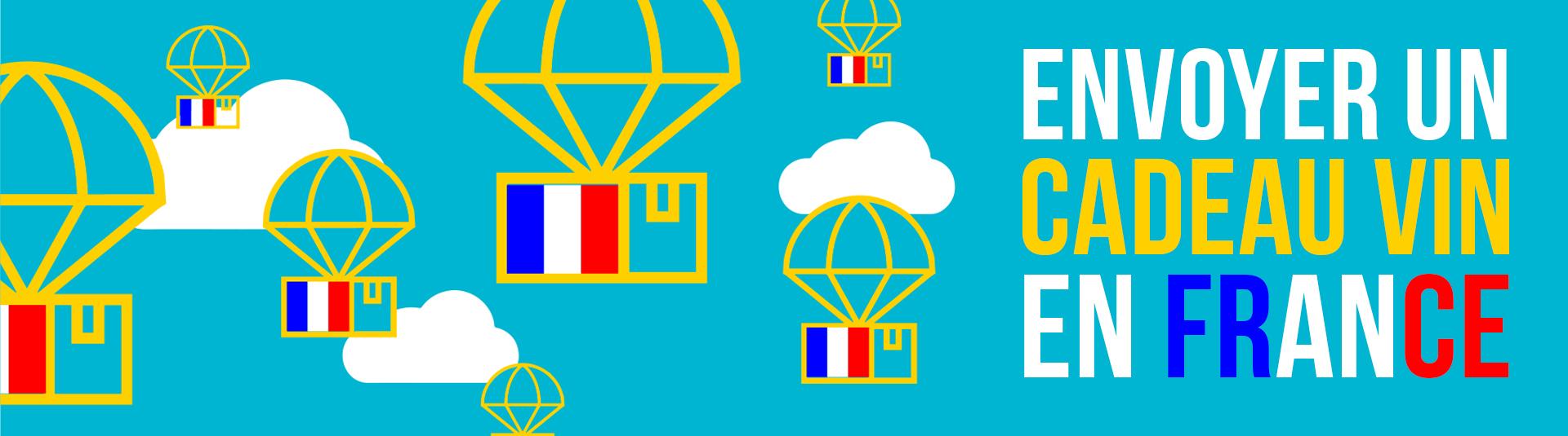 Faites livrer votre cadeau vin en France