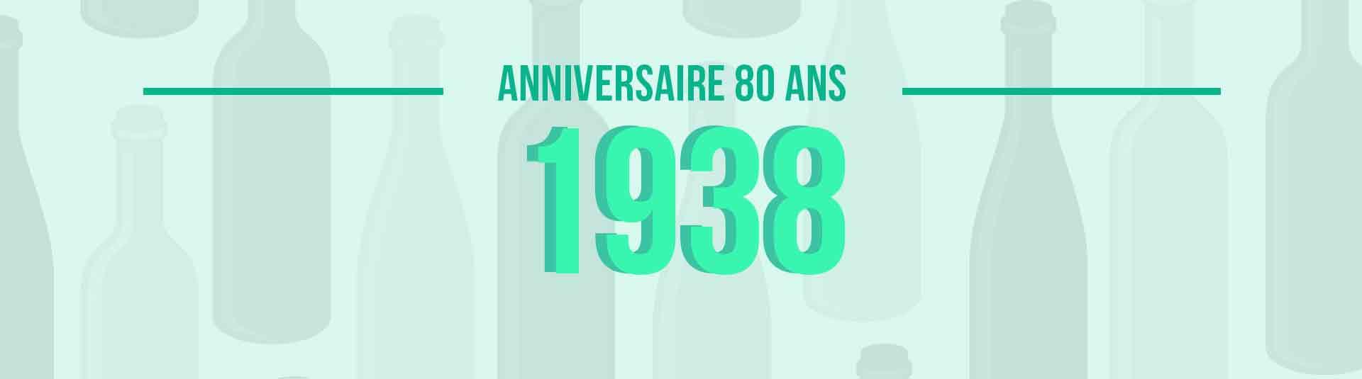 Vins de 1938 : cadeau d'anniversaire 80 ans