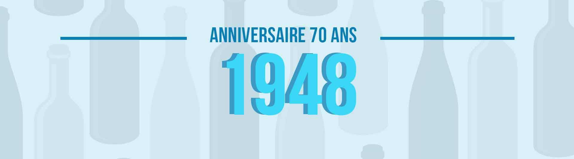 Vins de 1948 : cadeau d'anniversaire 70 ans