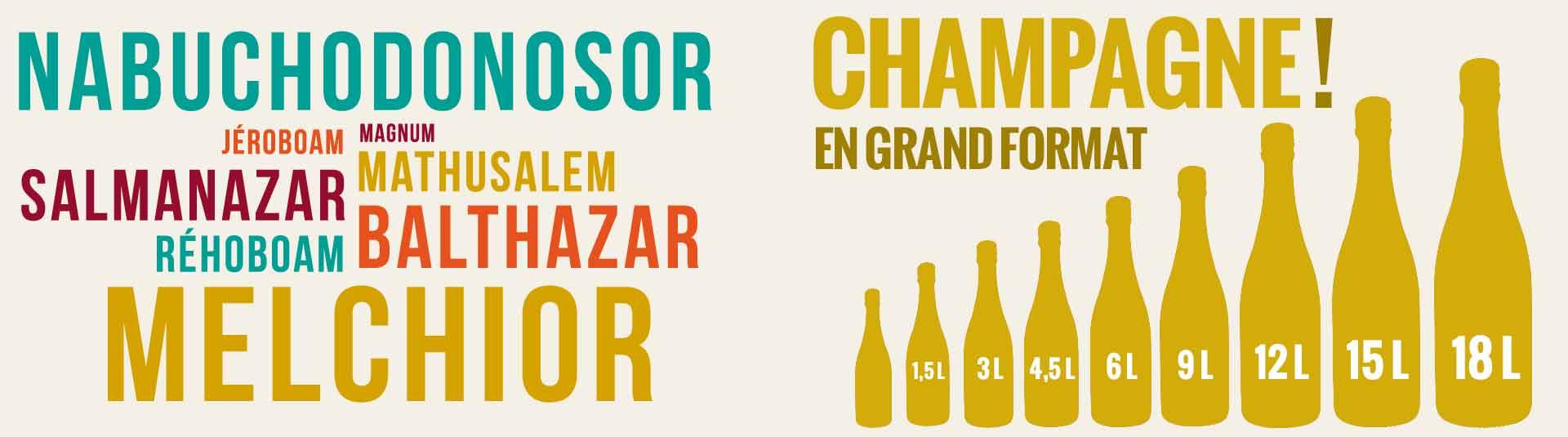 Grandes bouteilles de Champagne